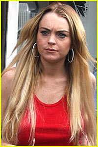 Lindsay Lohan Hit By Motorcycle, Hospitalized