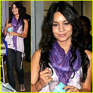 Vanessa Hudgens Jumps Through JFK