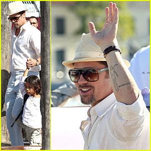 Brad Pitt Gets Very Venice