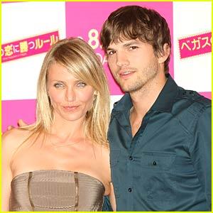 Cameron Diaz and Ashton Kutcher Take Tokyo