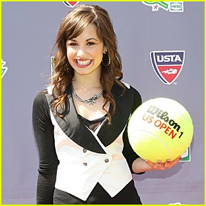 Demi Lovato is a Tennis Ball Babe
