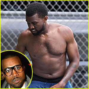 Kanye West is Shirtless