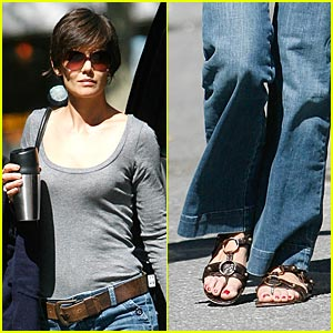 Katie Holmes Walks Down Minetta Lane
