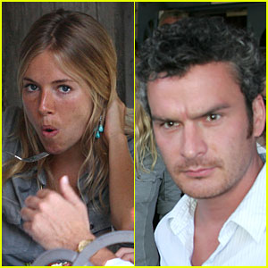 Sienna Miller's Mouth is Wide Open