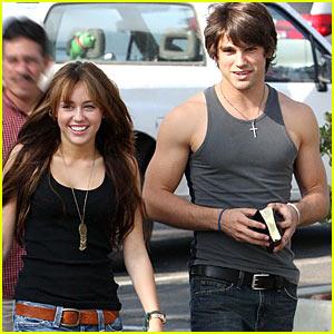 Miley Cyrus Takes Justin Gaston To Church