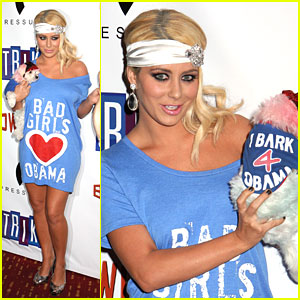 Aubrey O'Day is a Bad Girl for Obama