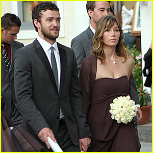 Justin Timberlake Attends Beverley Mitchell's Wedding