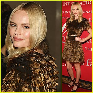 Kate Bosworth Ruffles Her Burberry Feathers
