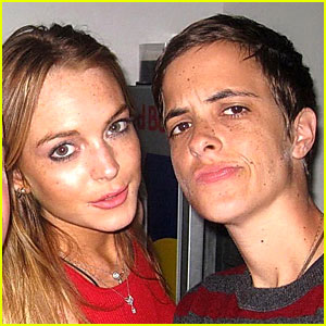 Lindsay Lohan and Samantha Ronson Lounge at Lotus
