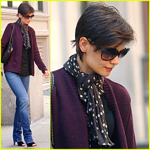 Katie Holmes Has Purple Pleasure