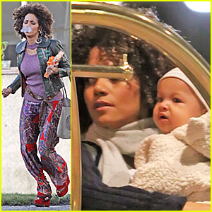Nahla Aubry is a Bundled-Up Baby