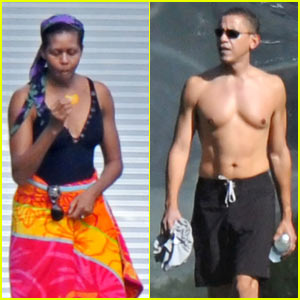 Barack Obama is Shirtless