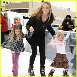 Denise Richards: Ice Skating Smiles