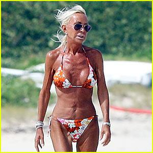 Donatella Versace is a Bikini Babe