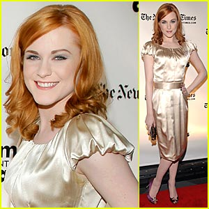 Evan Rachel Wood Rocks Strawberry Red