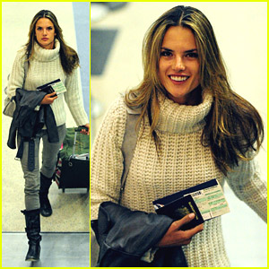Alessandra Ambrosio is a Mobile Model