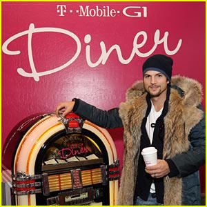 Ashton Kutcher Plays T-Mobile Tunes