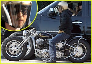 Brad Pitt: My Motorcycle Helmet is My Anonymi