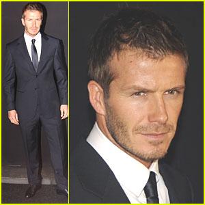 David Beckham is in Awe of Armani