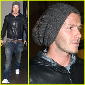 David Beckham Has Beanie Bravado