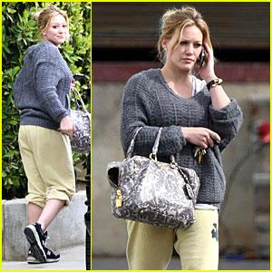 Hilary Duff Becomes Baggy Bashful