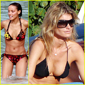 Marisa Miller & Selita Ebanks Are Awesome Angels