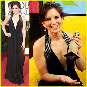 Tina Fey Wins Golden Globe -- Best Actress