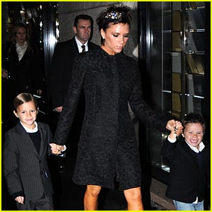 Victoria Beckham Dines At D&G's Gold Restaurant