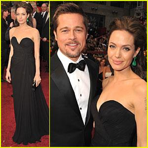 Angelina Jolie & Brad Pitt -- Oscars 2009
