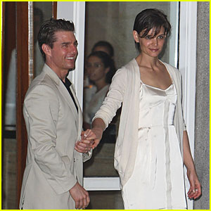 Katie Holmes Gets Whimsically White