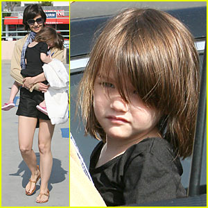 Katie Holmes & Suri Cruise: Pizza Party!