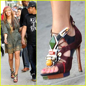 Beyonce Dons LV's Spicy Sandals