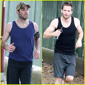 Chris Pine & Zachary Quinto: The Running Men