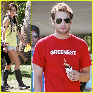 Jessica Stroup & Dustin Milligan: Coachella Couple