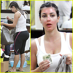 Kim Kardashian: Sunburn & Cornrows!