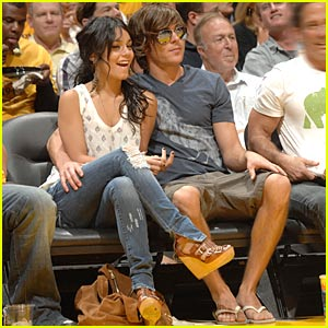 Zac Efron & Vanessa Hudgens: Lakers Lovers