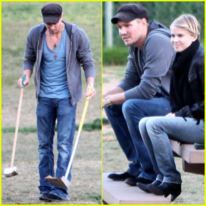 Chad Michael Murray & Kenzie Dalton: Dog Park Playful