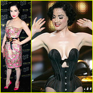 Dita Von Teese is Cannes Colorful