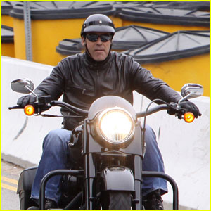 George Clooney is a Macho Motorcycle Man