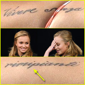 Hayden Panettiere's Tattoo is Misspelled!