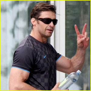 Hugh Jackman Has Bulging Biceps