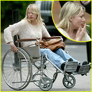 Michelle Williams is Wheelchair Bound