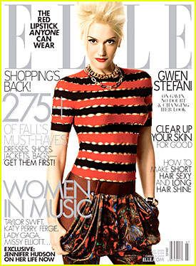 Gwen Stefani Covers 'Elle' July 2009
