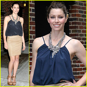 Jessica Biel Loves Letterman