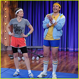 Jessica Biel Shares Workout Regimen With Jimmy Fallon