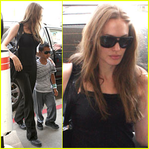 Angelina Jolie & Maddox: Sunglasses Pair