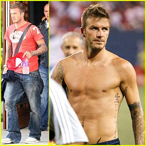 David Beckham is a Jersey Boy