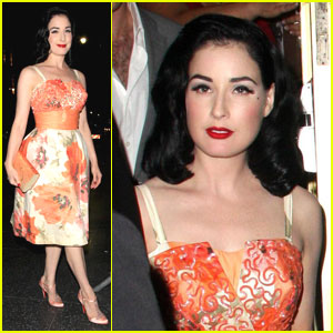 Dita Von Teese is a Burlesque Bather