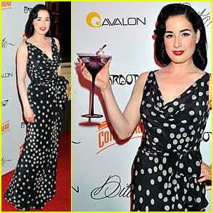 Dita Von Teese is a Martini Glass Girl