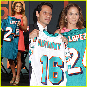Jennifer Lopez & Marc Anthony: Dolphins Delighted
